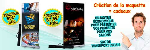 Roll up publicitaire de 85 et 100 cm